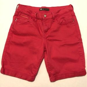 🛍 Levi's Pink Roll Cuff Bermuda Shirts Size 10.